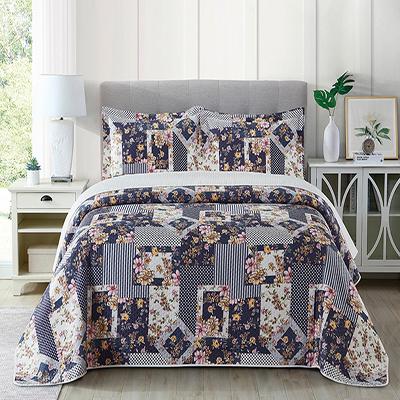 Best Selling Digital Printing 3 Layer Custom Logo Floral Blanket