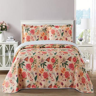 Living Room Decorative Floral Printed Printing Summer Blanket
