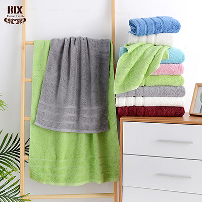 Colorful Plain Dye Pure Cotton Solid Terry Towels Supermarket Hot Selling