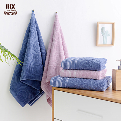 Manufacturer Cotton Solid Jacquard Towel For Daily Use