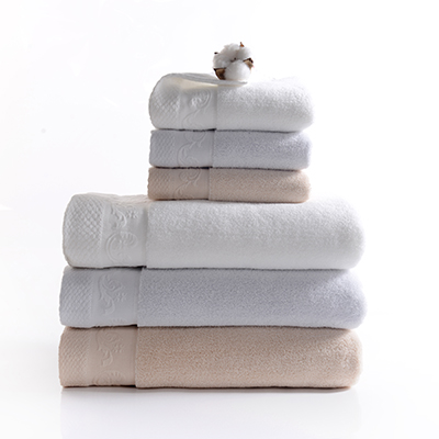 Top Quality 100% cotton white towel bath towel for five star hotel use