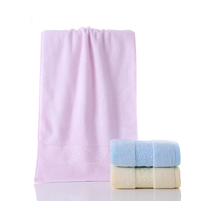 Solid Jacquard Cooling Bamboo Anti Bacteria Low MOQ Bath Towel
