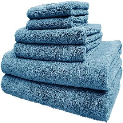 Solid Color Custom Microfiber Bath Towel Set Super Soft