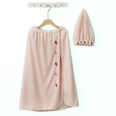 Adult women's microfiber bath clothes sauna soft comfortable bath robe