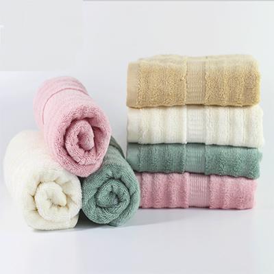 Comfortable Cooling Soft Bamboo Fiber Cute Pink Bath Set Towel