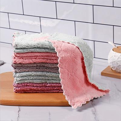 Portable Convenient Microfiber Coral Fleece Light Cheap Kitchen Towel