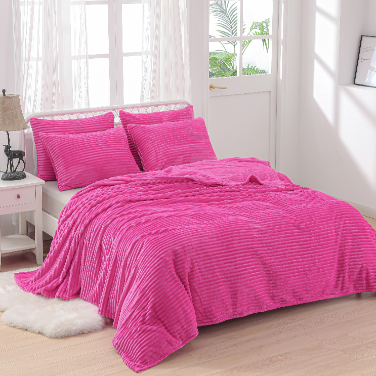 Wholesale cheap price microfiber throw blankets soft warm witer bedspread